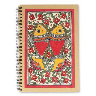 Handmade Sea of Flowers Madhubani Journal (India)