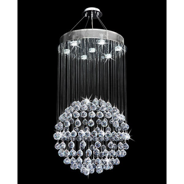 Galaxy ball collection silvertone steelcrystal chandelier chrome galaxy ball collection silvertone steelcrystal chandelier chrome aloadofball Images