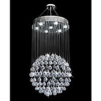 Galaxy Ball Collection Silvertone Steel/Crystal Chandelier - Chrome