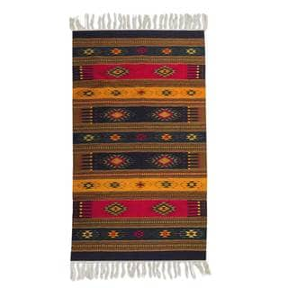 Mexican Color of Life Zapotec Wool Rug (5' x 8')