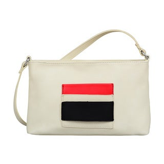 Mellow World Rae Beige Faux Leather Small Crossbody Handbag