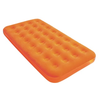 Bestway Twin Fashion Flocked Orange Air Mattress