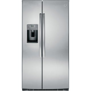 GE Energy Star 25.4 Cubic Feet Stainless Steel Side-by-side Refrigerator