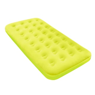 Bestway Twin Fashion Flocked Yellow Air Mattress