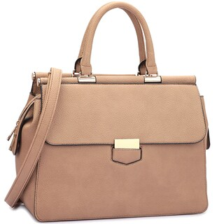 Dasein Expandable Side Zipper Briefcase Satchel Handbag