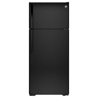 GE Energy Star 17.5 Cubic-foot Black Top Freezer Refrigerator