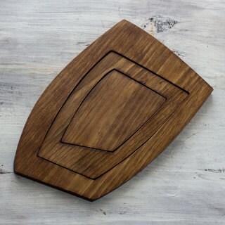 Set of 3 Handcrafted Alder Wood 'Sharing Nature' Trivet (Guatemala)