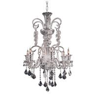 Elizabeth Collection Goldtone/Chrome-finished Steel/Crystal Chandelier