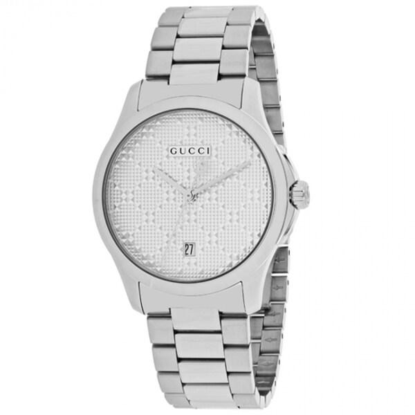 7dba4c779a7 Gucci Unisex YA126459   x27 G-Timeless  x27  Stainless Steel Watch