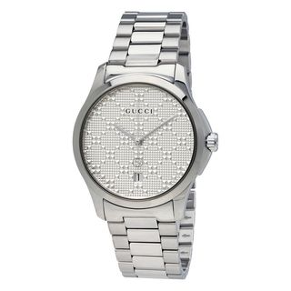Gucci Unisex YA126459 'G-Timeless' Stainless Steel Watch