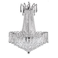 Victoria Drop Collection Steel and Crystal Chandelier - Chrome