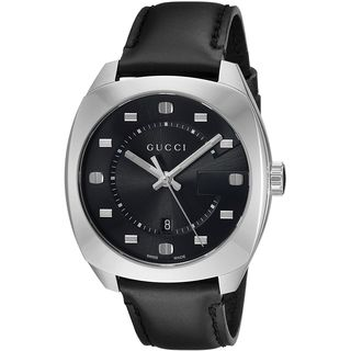 Gucci Men's YA142307 'GG2570' Black Leather Watch