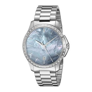 Gucci Unisex YA126458 'G-Timeless' Diamond Stainless Steel Watch