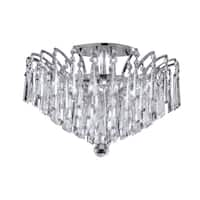 Victoria Pendluque Collection Chrome and Crystal 6-light Flush Mount