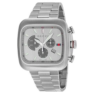 Gucci Men's YA131201 'Coupe' Chronograph Stainless Steel Watch
