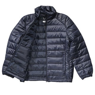 French Toast Boy's Navy Blue Polyester Puffer jacket