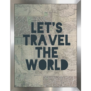 "Leah Flores ""Travel the World"" Framed Wall Art"