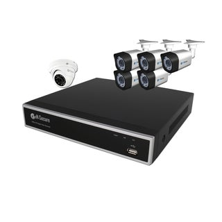 eN-Secure 8 Channel DVR CCTV Kit with 5 1080p HD 2MP Bullet, 1 Dome Camera, and 2TB Hard Drive