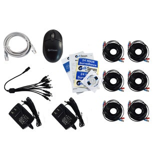 eN-Secure 8-channel DVR CCTV Kit with 5 1080p HD 2MP Bullet, 1 Dome Camera, and 4TB Hard Drive