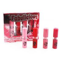 W7 Fabulicious Four 4-piece Lipstick Set