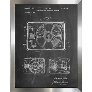 """Cole Borders """"Record Player"""" Framed Wall Art"""