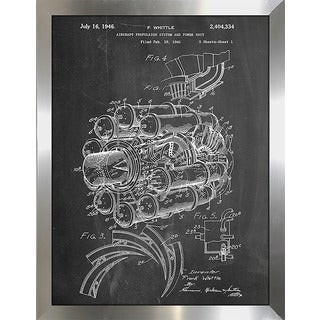 "Cole Borders ""Jet Engine"" Framed Wall Art"
