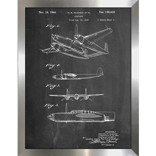 "Cole Borders ""Hughes Airplane"" Framed Wall Art"