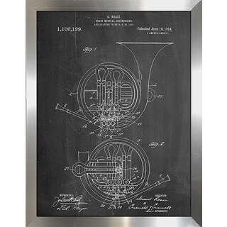"""Cole Borders """"French Horn"""" Framed Wall Art"""