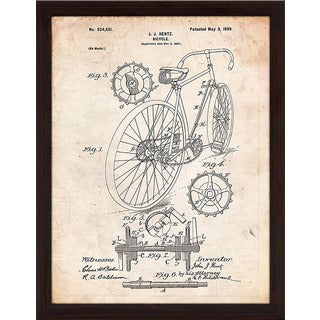 "Cole Borders ""Bicycle C"" Framed Wall Art"