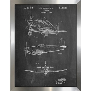 "Cole Borders ""Airplane 1947"" Framed Wall Art"