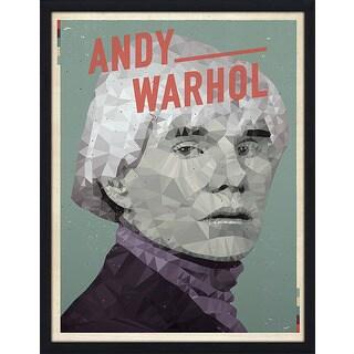 """American Flat """"Andy Warhol"""" Framed Wall Art"""