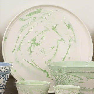 Richmond Large Green Marbled Platter