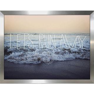 "Leah Flores ""Lets Run Away"" Framed Wall Art"