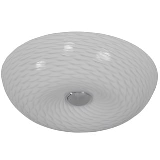 Varaluz Swirled 2-light Small Chrome Flush with French Feather Glass