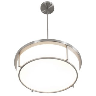 Alternating Current Smart LED Satin Nickel Pendant with Opal Glass