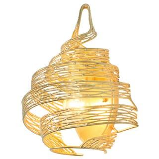 Varaluz Flow 1-light Twist Gold Leaf Wall Sconce