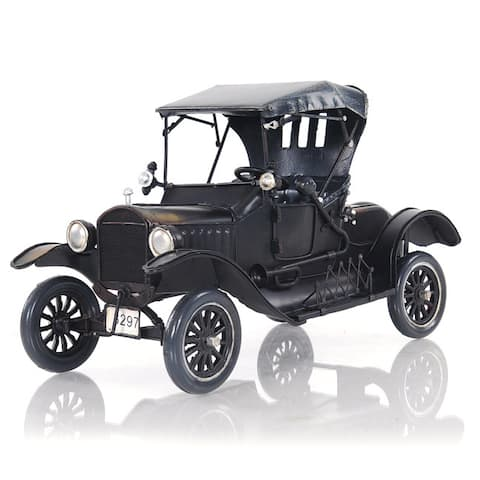 Black Ford Model T Car Figurine