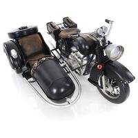 Black Vintage Motorcycle Figurine