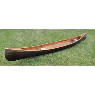 Dark Stained Finish 18 Foot Rib Canoe