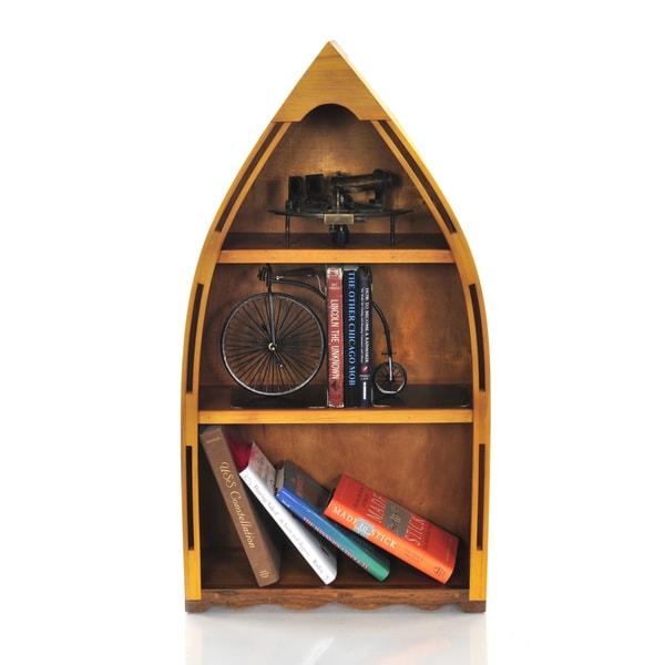 Small Wood Canoe Book Shelf
