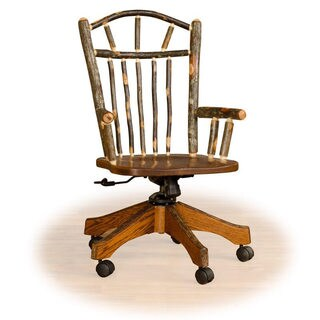 Rustic Hickory / Oak Adjustable Office Chair