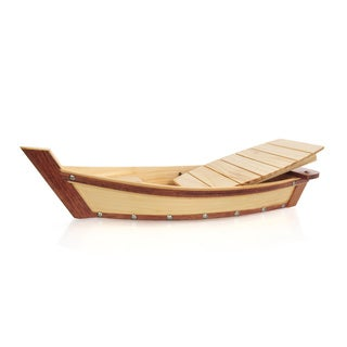 Small Wooden Sushi Boat Serving Tray