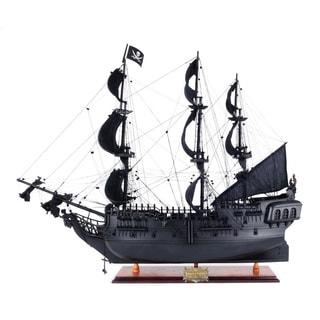 Medium Black Pearl Pirate Ship Figurine
