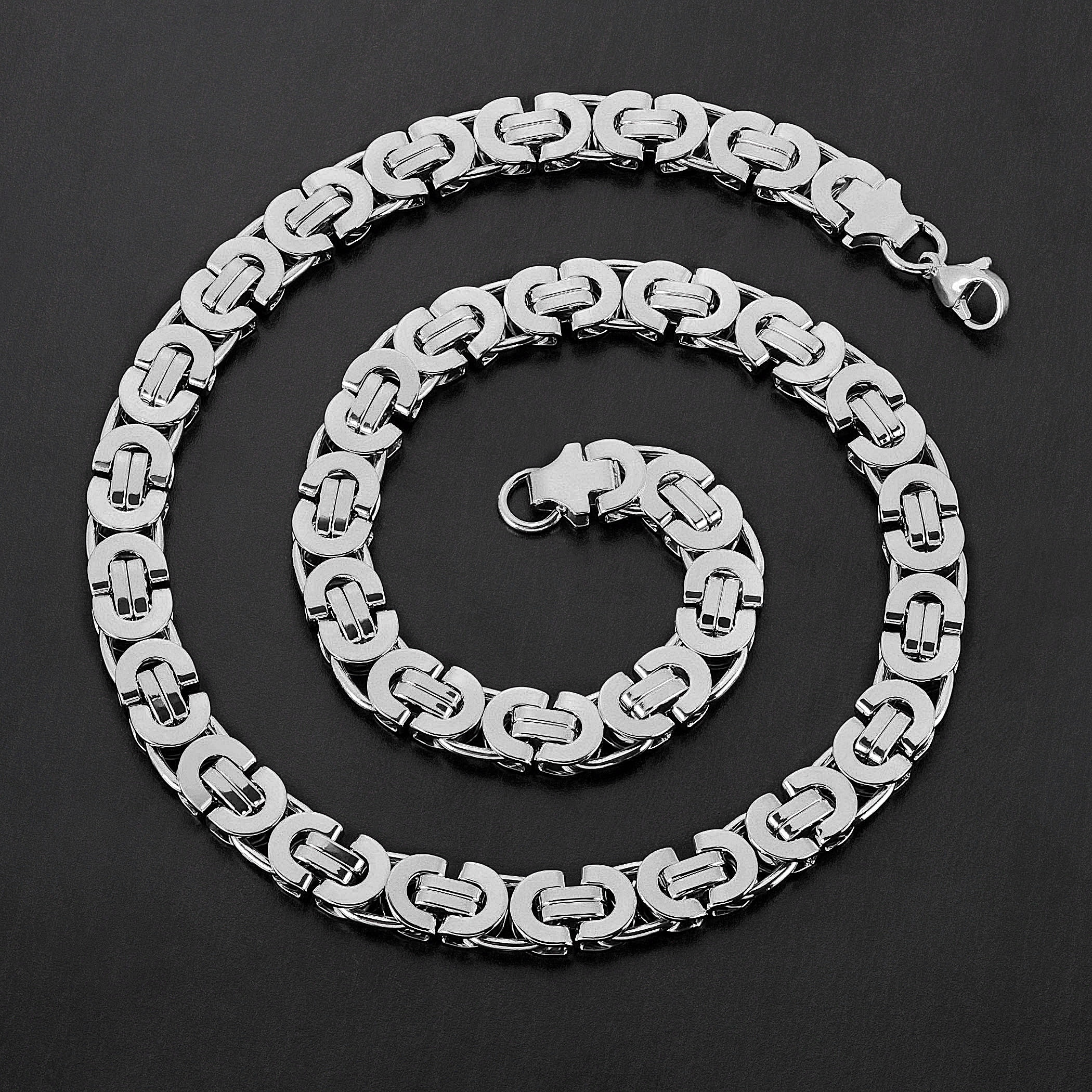 20 inch 060 Byzantine Chain Sterling Silver