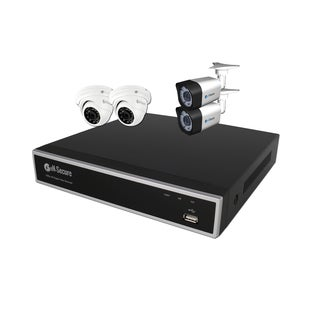 eN-Secure 8-channel DVR CCTV Kit with 2 1080p HD 2MP Bullet, 2 Dome Cameras, and 2TB Hard Drive