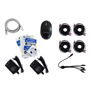 eN-Secure 8-channel DVR CCTV Kit with 2 1080p HD 2MP Bullet, 2 Dome Cameras and 4TB Hard Drive