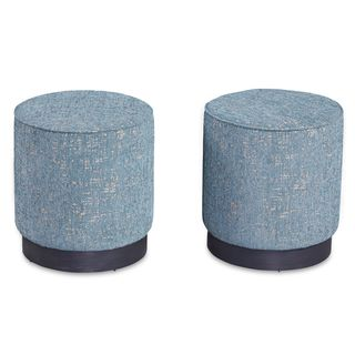 A.R.T. Furniture Epicenters Wood Silver Lake Upholstered Stool