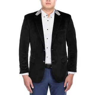 Steve Harvey Men's Black Velvet Classic-fit Blazer