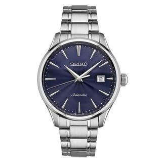 Seiko Men's SRPA29 Stainless Steel 24 Jewell Automatic Leather Strap Watch with a Day and Date|https://ak1.ostkcdn.com/images/products/13181377/P19904002.jpg?impolicy=medium