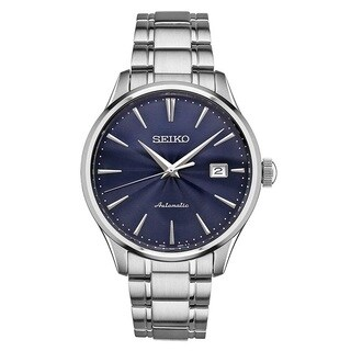 Seiko Men's SRPA29 Stainless Steel 24 Jewell Automatic Leather Strap Watch with a Day and Date